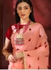 Beads Work Designer Contemporary Saree - 1