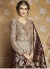 Satin Silk Readymade Long Length Gown For Festival - 1