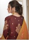 Embroidered Work Satin Silk Readymade Designer Gown - 2