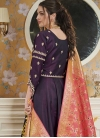 Embroidered Work Readymade Designer Gown - 2