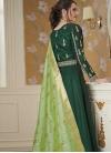 Satin Silk Readymade Floor Length Gown - 2