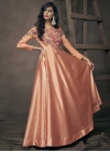 Embroidered Work Readymade Floor Length Gown For Festival - 1
