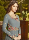 Embroidered Work Long Length Anarkali Salwar Suit - 1