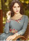 Embroidered Work Long Length Anarkali Salwar Suit - 2
