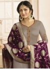Drashti Dhami Satin Georgette Trendy Churidar Suit - 1