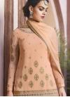 Faux Georgette Palazzo Designer Salwar Kameez - 1