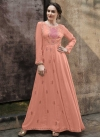 Embroidered Work Pasmina Readymade Designer Gown - 1