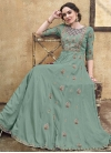 Embroidered Work Readymade Long Length Gown - 1