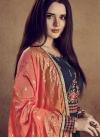 Cotton Silk Embroidered Work Layered Designer Gown - 1