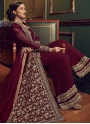 Faux Georgette Embroidered Work Designer Palazzo Salwar Kameez - 1