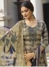 Crepe Silk Palazzo Straight Salwar Suit - 1