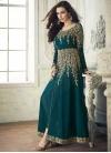 Embroidered Work Faux Georgette Long Length Salwar Kameez - 1