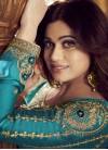 Shamita Shetty Light Blue and Navy Blue Palazzo Style Pakistani Salwar Kameez For Ceremonial - 2
