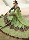 Embroidered Work Green and Mint Green Satin Silk Lehenga Choli - 1