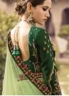 Embroidered Work Green and Mint Green Satin Silk Lehenga Choli - 2