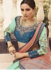Light Blue and Turquoise Satin Silk Designer Classic Lehenga Choli - 2