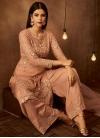 Beads Work Palazzo Straight Salwar Suit - 1