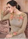 Net Embroidered Work Trendy Anarkali Salwar Kameez - 2
