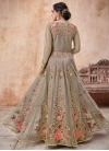 Net Embroidered Work Trendy Anarkali Salwar Kameez - 1