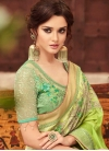 Embroidered Work Satin Silk Trendy Classic Saree - 1