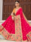 Silk Orange and Rose Pink Trendy Classic Saree - 1