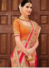 Silk Orange and Rose Pink Trendy Classic Saree - 2