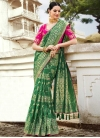Thread Work Silk Contemporary Saree - 1
