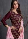 Satin Georgette Designer Palazzo Salwar Suit - 1