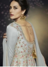 Satin Silk Embroidered Work Readymade Classic Gown - 2