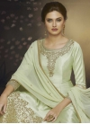 Embroidered Work Readymade Long Length Gown - 2
