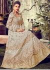 Faux Georgette Layered Designer Anarkali Suit - 1