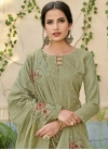 Embroidered Work Pant Style Straight Salwar Suit - 1