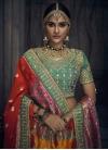 Beads Work Banglori Silk A - Line Lehenga - 1