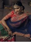 Green and Navy Blue Banglori Silk Designer A Line Lehenga Choli - 2