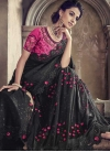 Embroidered Work Lycra Designer Contemporary Style Saree - 1