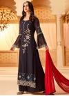 Faux Georgette Palazzo Style Pakistani Salwar Suit - 1