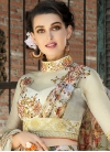 Beige and Silver Color Lehenga Choli For Festival - 1