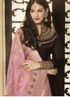 Nargis Fakhri Silk Georgette Long Length Anarkali Salwar Suit - 1