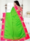 Hot Pink and Mint Green Lace Work Trendy Classic Saree - 2