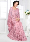 Embroidered Work Net Designer Contemporary Saree - 1