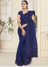 Net Contemporary Saree For Bridal - 1