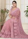 Net Beads Work Trendy Saree - 1