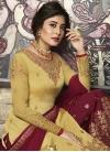 Crimson and Yellow Palazzo Style Pakistani Salwar Suit - 2