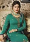 Satin Georgette Embroidered Work Palazzo Style Pakistani Salwar Kameez - 2