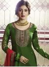 Satin Georgette Palazzo Style Pakistani Salwar Suit - 2