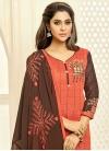 Coffee Brown and Salmon Trendy Churidar Salwar Suit - 1