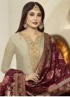 Satin Georgette Pant Style Pakistani Salwar Kameez - 1