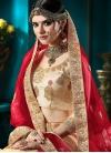 Booti Work Art Silk Trendy A Line Lehenga Choli - 1