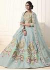 Art Silk Embroidered Work Trendy A Line Lehenga Choli - 1