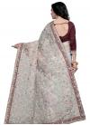 Net Embroidered Work Trendy Saree - 1